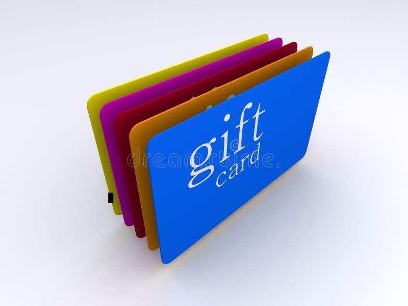 Tarjetas del regalo ilustración del vector