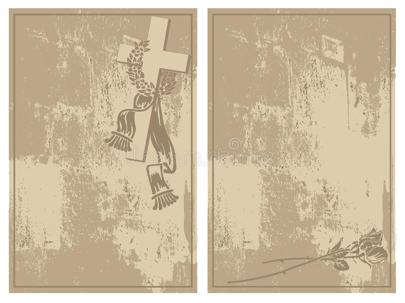 Tarjetas del vintage libre illustration