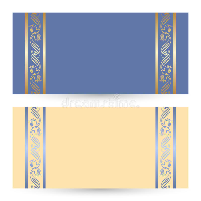 Tarjetas determinadas del saludo o de la invitación del vector libre illustration