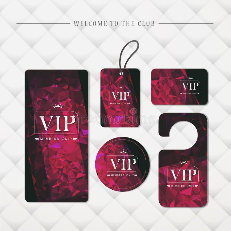 Tarjetas elegantes del platino superior de los miembros del VIP solamente libre illustration