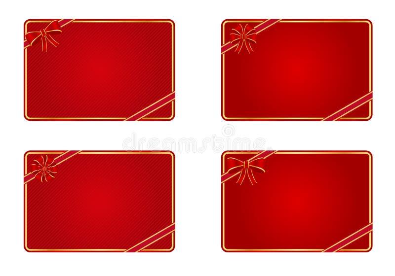 Tarjetas en blanco del regalo ilustración del vector