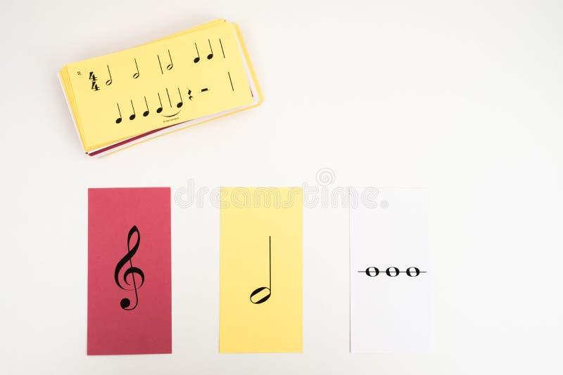 Tarjetas flash de la música imagen de archivo libre de regalías