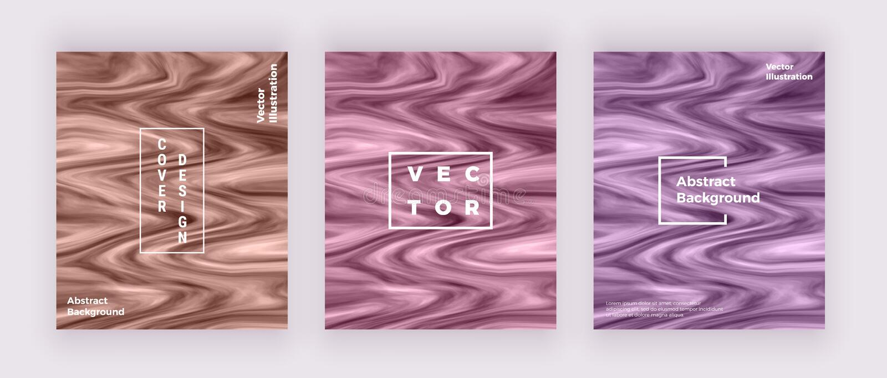 Tarjetas líquidas de la textura del mármol de la acuarela Remolina la tinta, ondula el fondo del diseño Plantilla flúida de moda  ilustración del vector