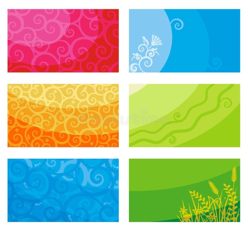 Tarjetas o banderas de visita libre illustration
