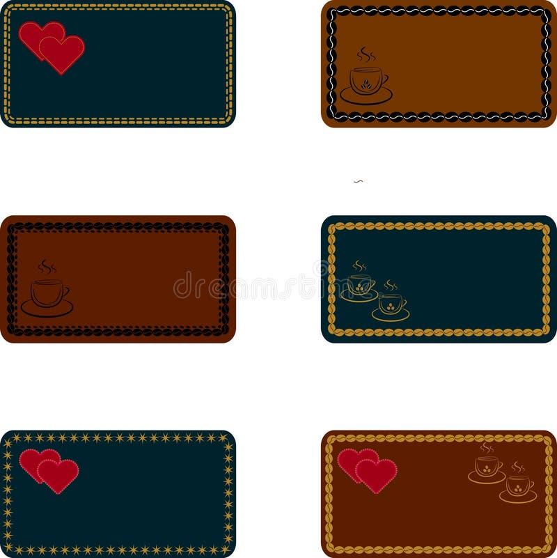 Tarjetas, plantillas para las invitaciones, tarjetas de visita, menús, tarjetas de felicitación libre illustration