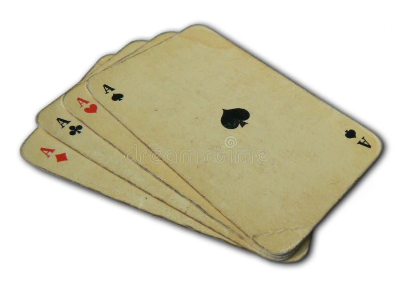 Tarjetas que juegan foto de archivo