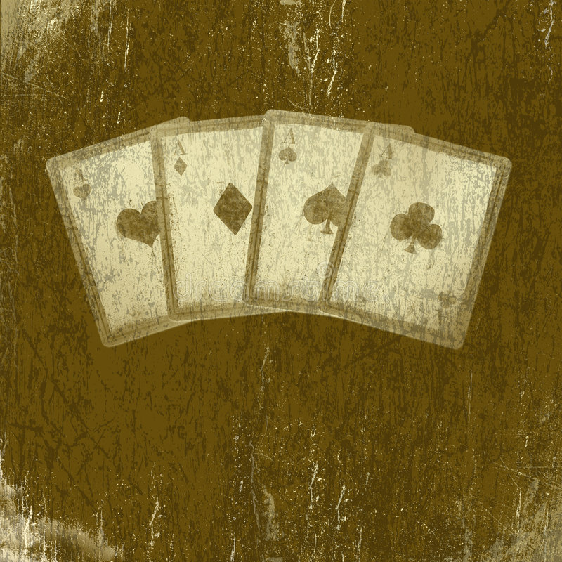 Tarjetas que juegan de Grunge. Fondo abstracto del rasguño. stock de ilustración