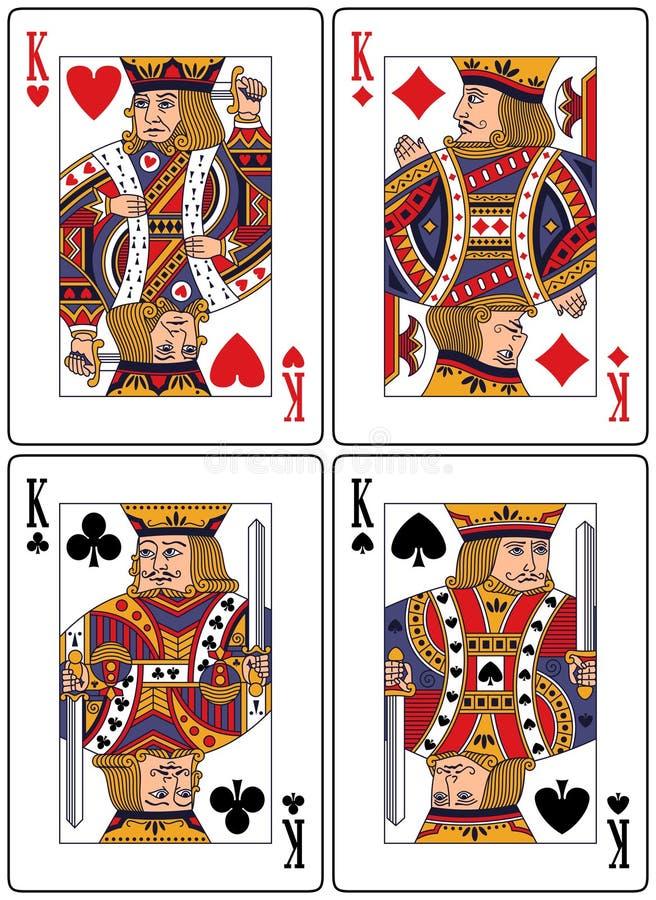 Tarjetas que juegan - reyes stock de ilustración