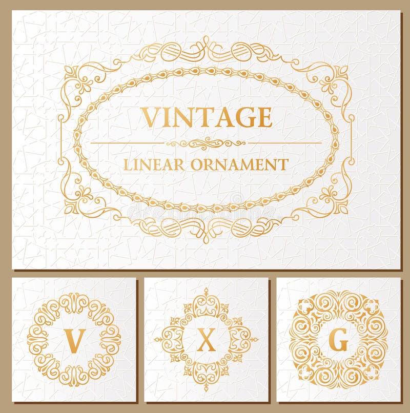 Tarjetas Retras Determinadas Del Vintage Invitación De La