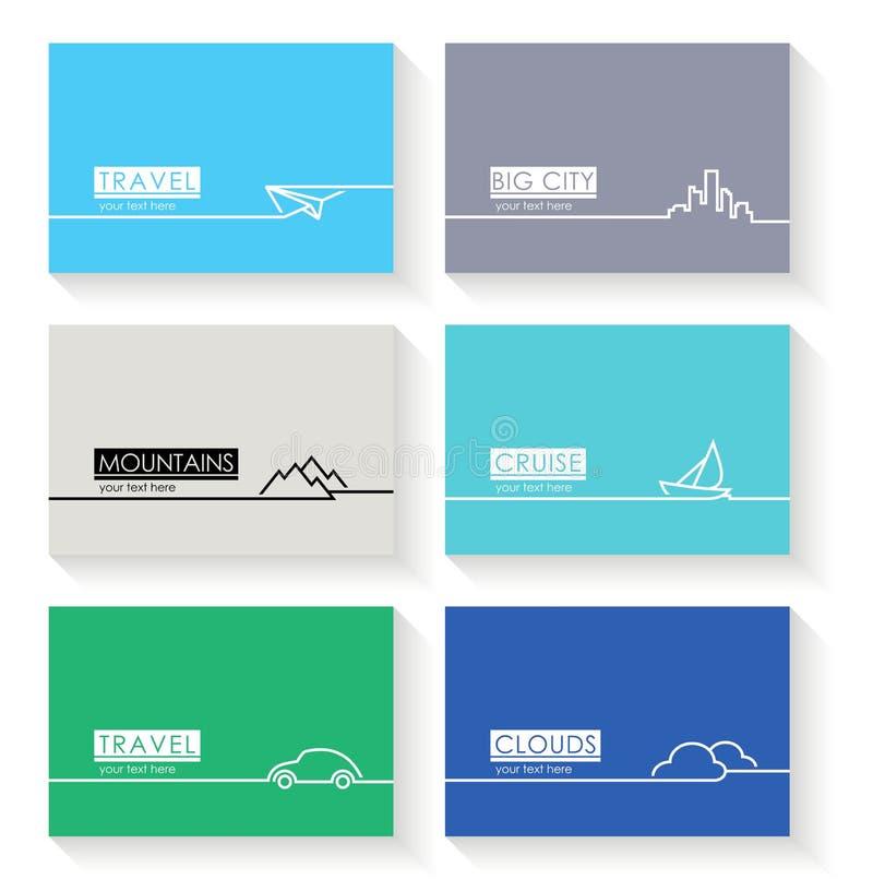 Tarjetas simples modernas libre illustration