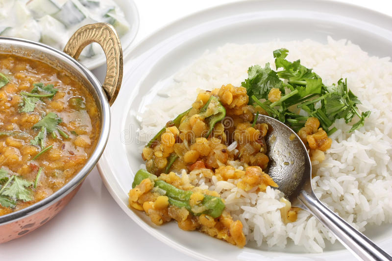 Tarka dal , red lentils curry , indian dish stock images