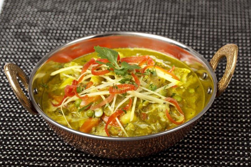 Tarka indio dal, curry de Daal, comida india tradicional del plato imagen de archivo