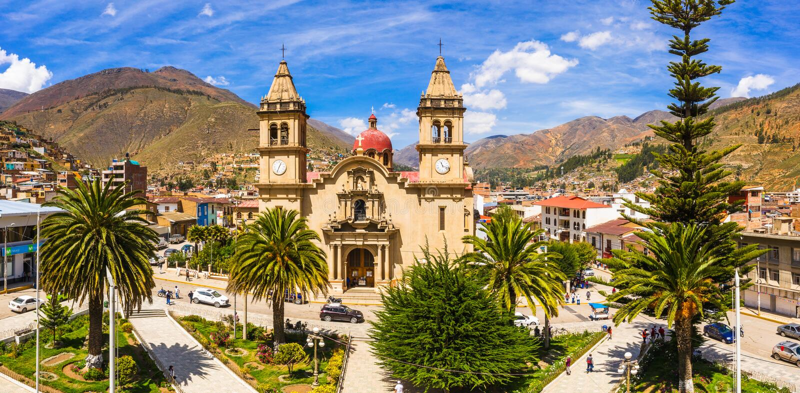 Tarma市在秘鲁 免版税库存图片