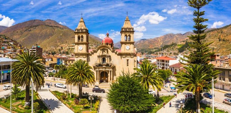 Tarma-Stadt in Peru lizenzfreie stockbilder