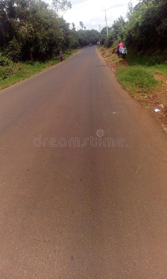 Tarmac road stock image