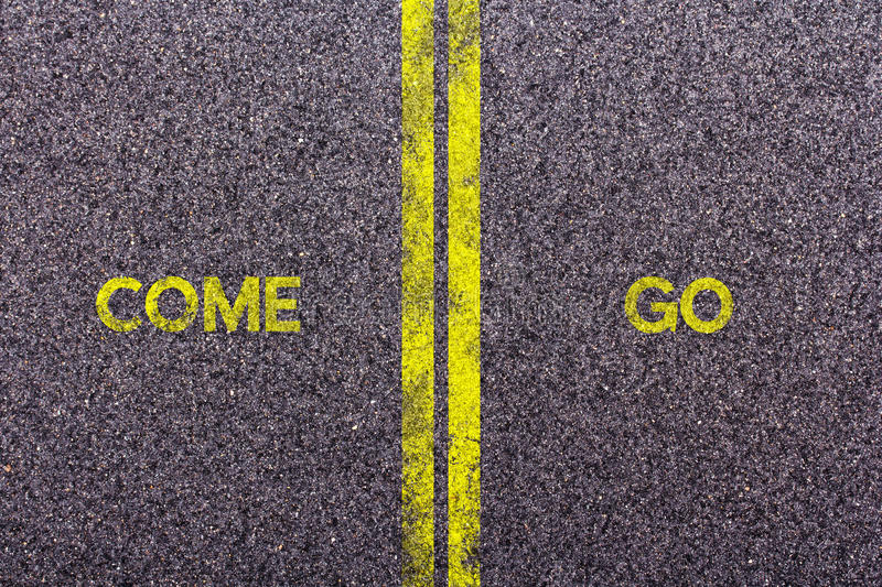 Tarmac with the words come and go. Tarmac background with the words come an go royalty free stock images
