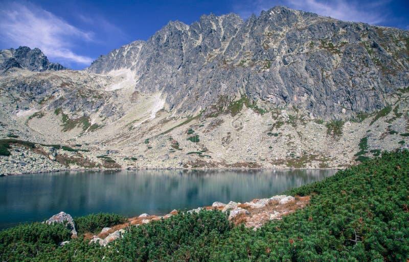 Tarn in High Tatras, Slovakia. Tarn Batizovske pleso in High Tatras mountains, Slovakia royalty free stock image
