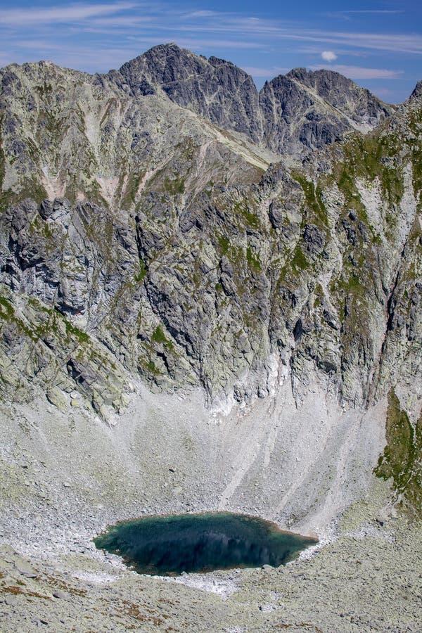 Tarn in High Tatras, Slovakia stock images