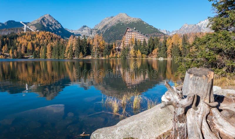 Tarn Strbske pleso in High Tatras royalty free stock images