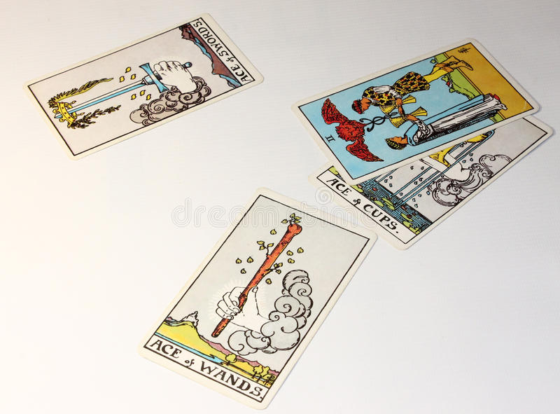 Taro Cards royaltyfri bild