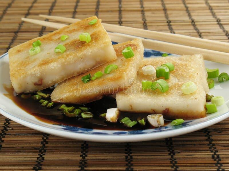 Taro con la salsa de soja foto de archivo libre de regalías