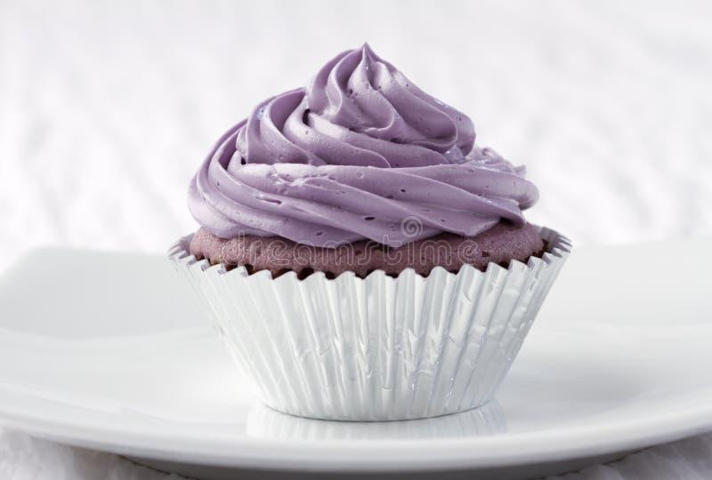 Taro cupcake royalty-vrije stock foto's