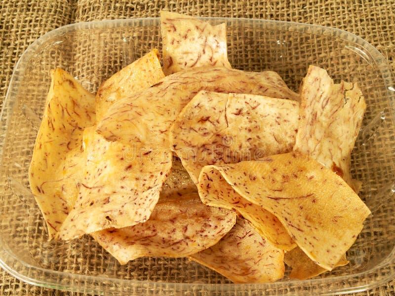 Taro frito imagen de archivo libre de regalías