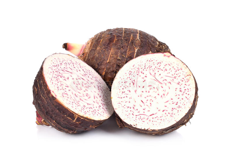 Taro isolated on white background stock images