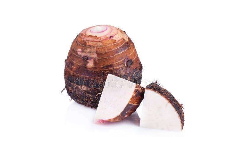 Download Taro Isolato Su Fondo Bianco Fotografia Stock - Immagine di fresco, affettato: 56885658