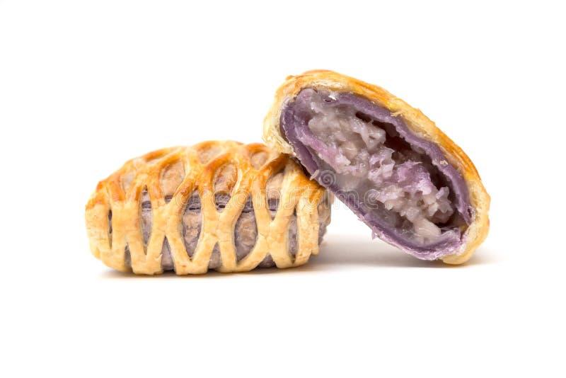 Taro Pie isolerade royaltyfri bild