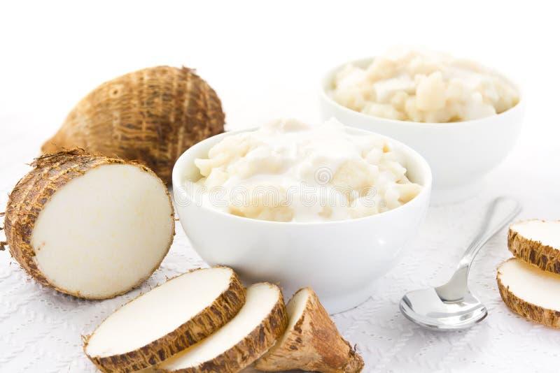 Taro root rice pudding stock photos