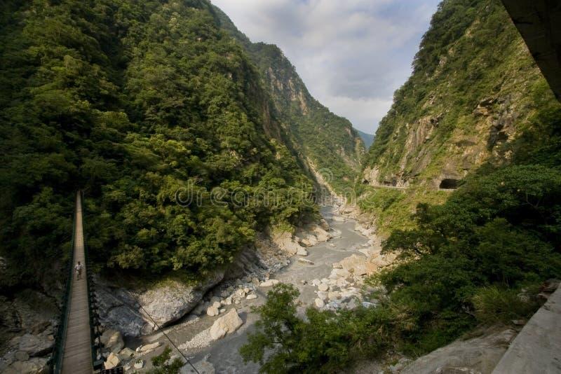 taroko каньона моста стоковые изображения rf