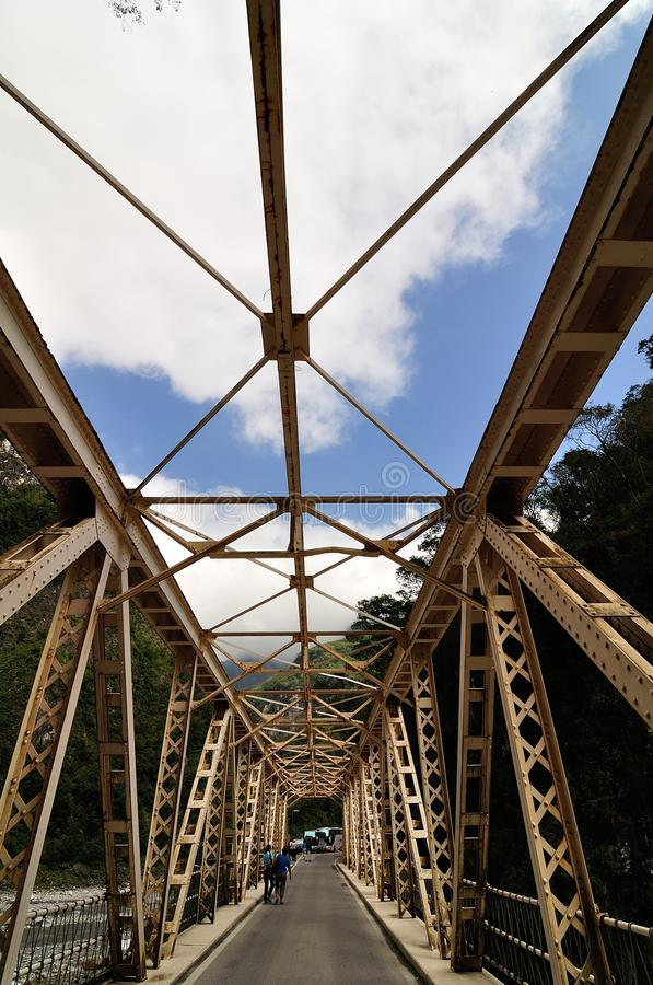taroko gorge моста стоковое изображение rf