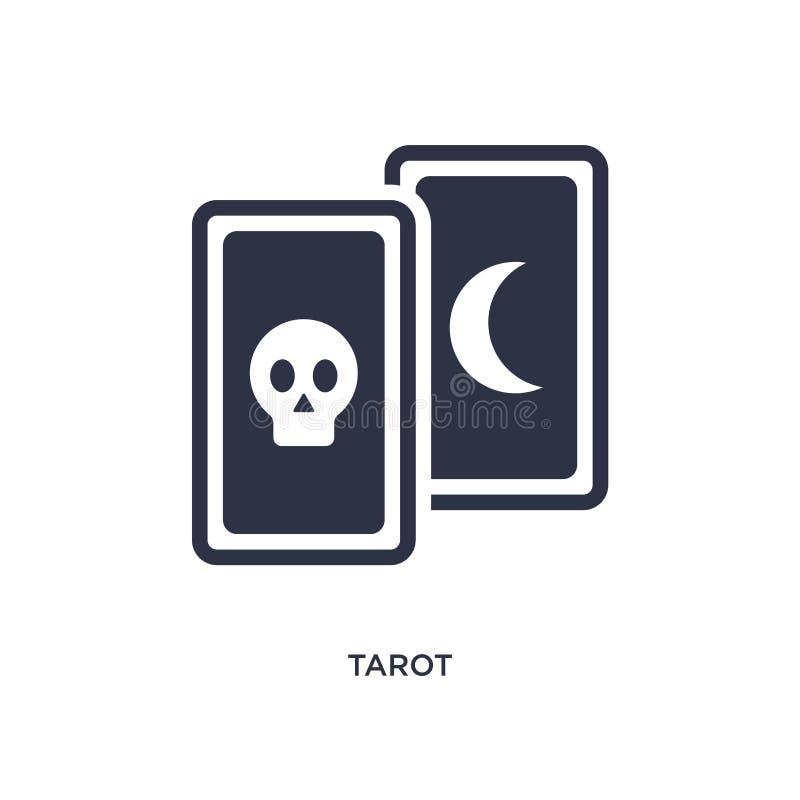 tarot εικονίδιο στο άσπρο υπόβαθρο Απλή απεικόνιση στοιχείων από τη μαγική έννοια ελεύθερη απεικόνιση δικαιώματος