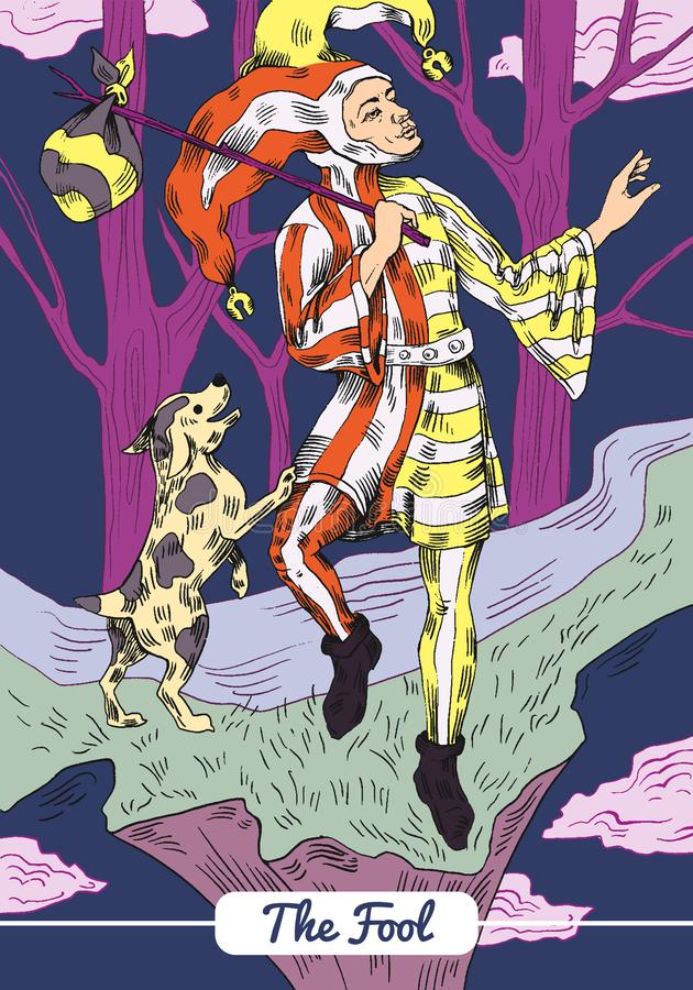 Tarot - η κάρτα ανόητων ελεύθερη απεικόνιση δικαιώματος