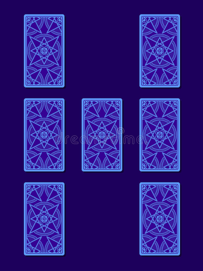 Tarot που διαδίδεται σχέση Πίσω πλευρά καρτών Tarot ελεύθερη απεικόνιση δικαιώματος