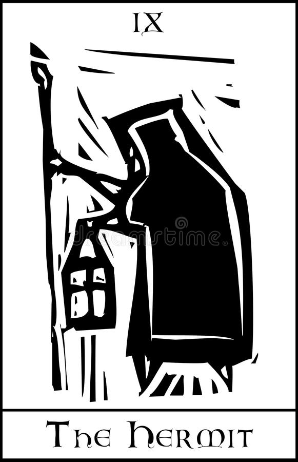 Download Tarot Card Hermit stock vector. Image of witch, future - 28978511