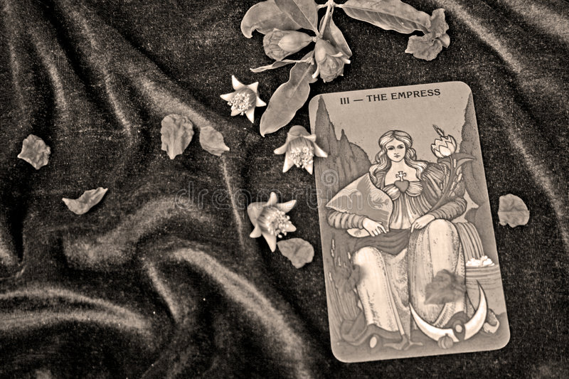 Tarot cards. On violet background royalty free stock image