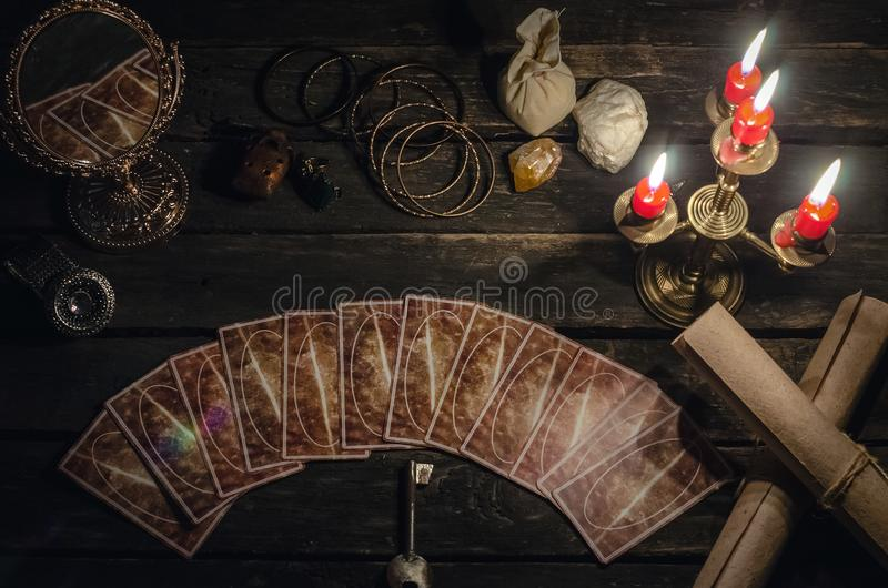 Tarot cards. royalty free stock photos