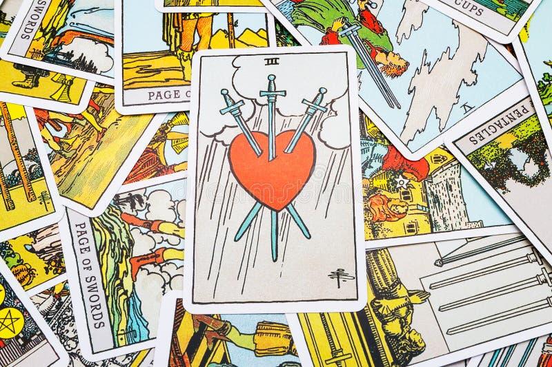 Tarot cards Tarot royalty free stock photo