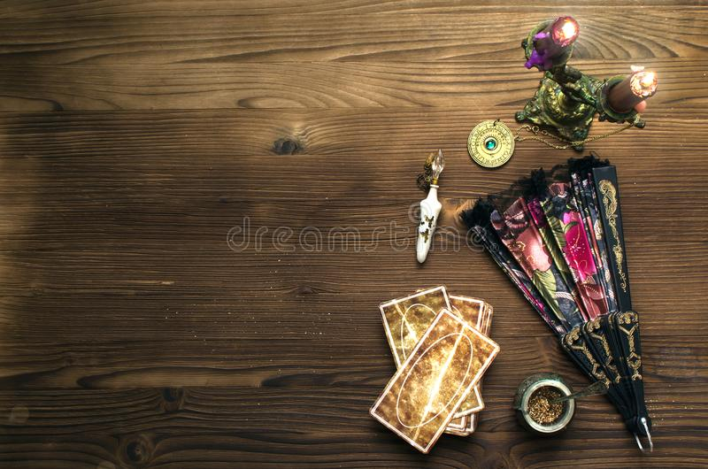 Tarot cards. royalty free stock photo