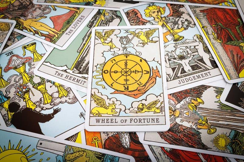 Tarot de cartes de tarot images libres de droits