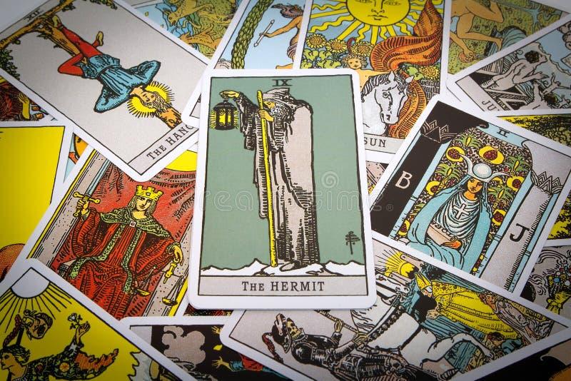 Tarot de las cartas de tarot imagen de archivo libre de regalías