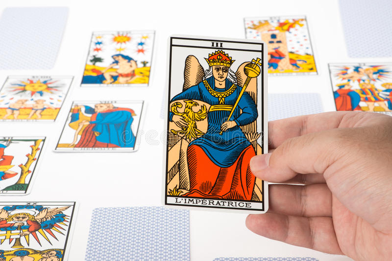Tarot del drenaje: La emperatriz imágenes de archivo libres de regalías