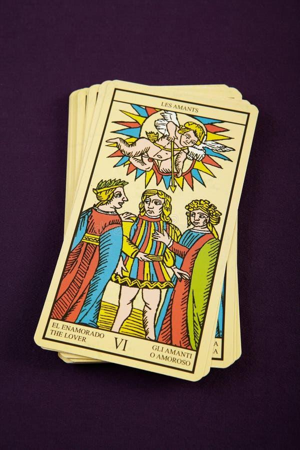 Tarot der Geliebte lizenzfreies stockbild