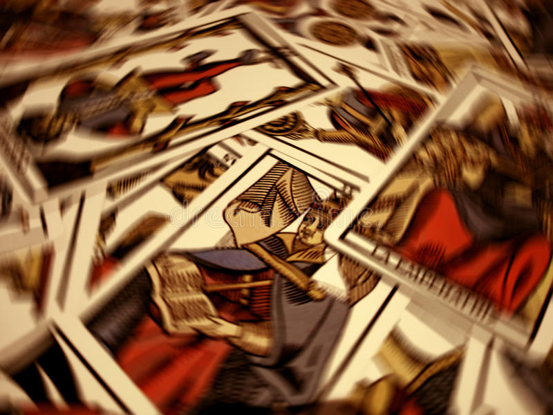 Tarot destiny. Cards show the destination tarot stock images