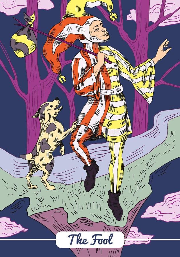 Tarot - The Fool Card royalty free illustration