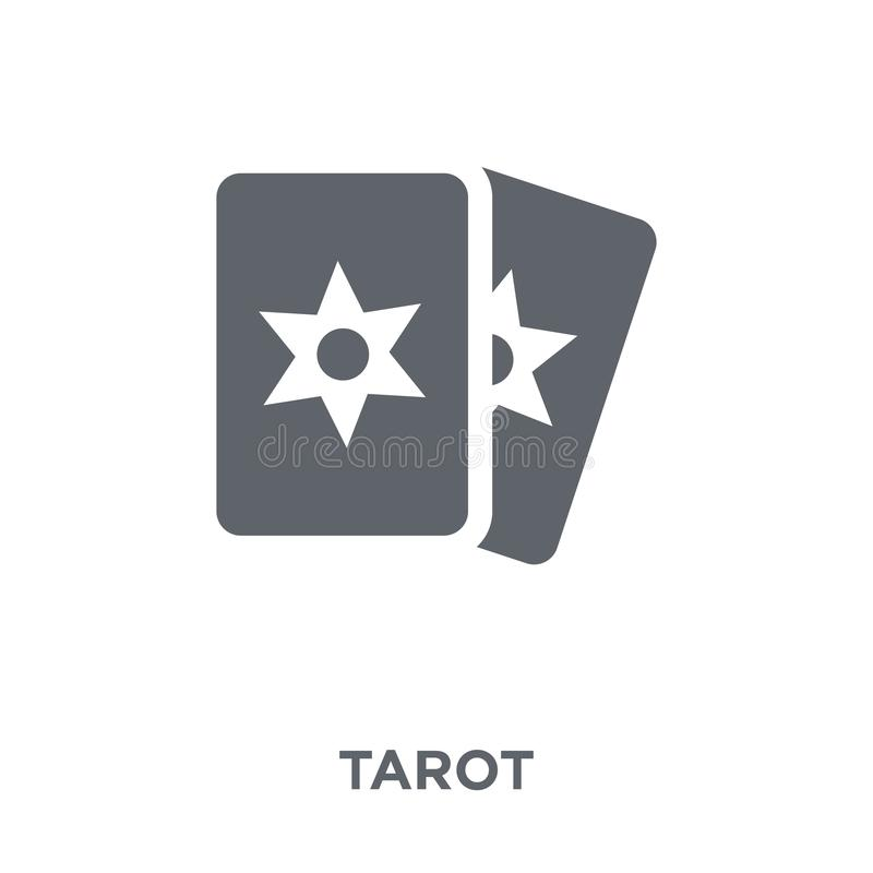 Tarot icon from Circus collection. royalty free illustration