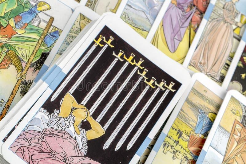 Tarot Karten lizenzfreies stockbild
