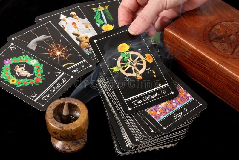 Tarot Karten stockfotos